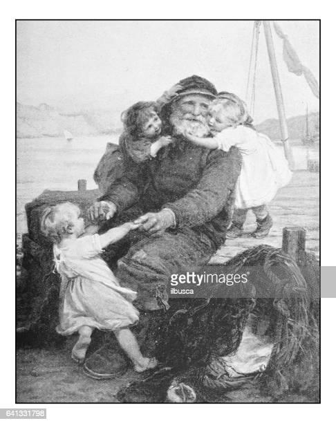 Fotos antiguas de pinturas: abuelo pescador