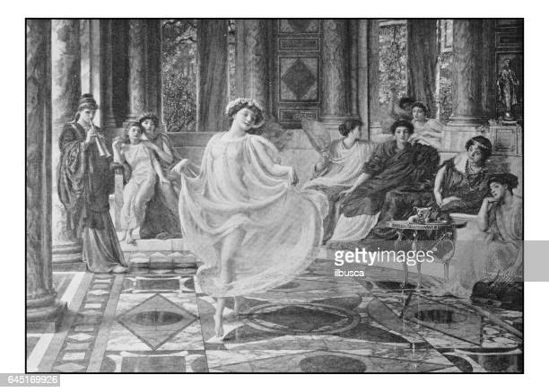Antique photo of paintings: Ionian dance