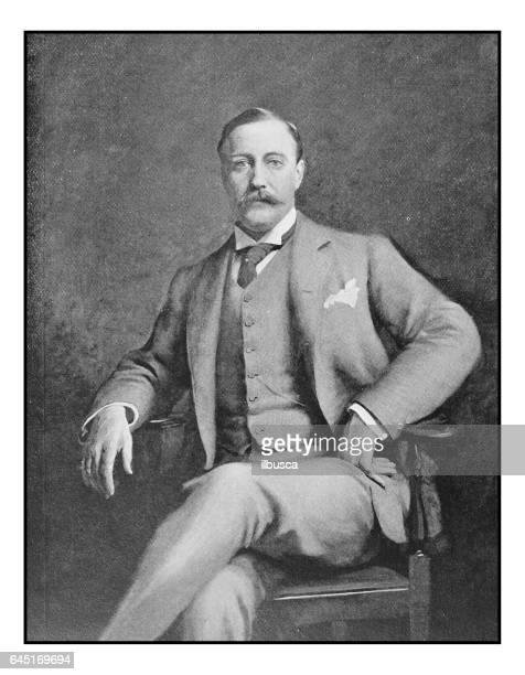 Antique photo of paintings: Man portrait