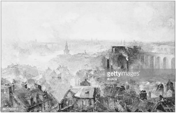antique photo of paintings: newcastle on tyne - northeastern england stock illustrations, clip art, cartoons, & icons