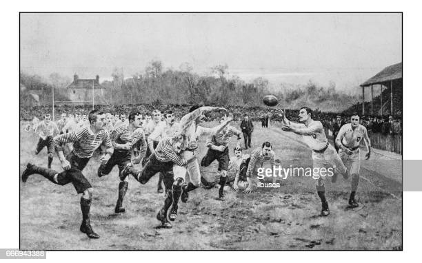 Antique photo of paintings: Rugby