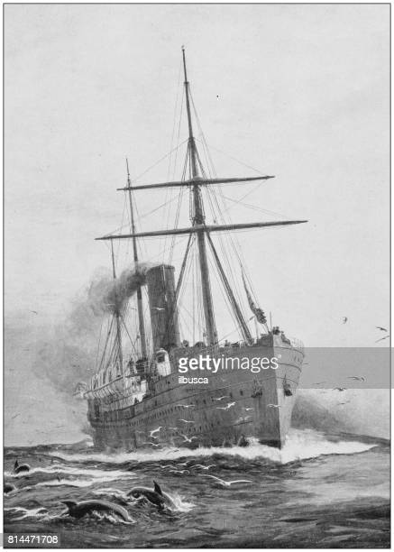 Antique photo of paintings: Ship