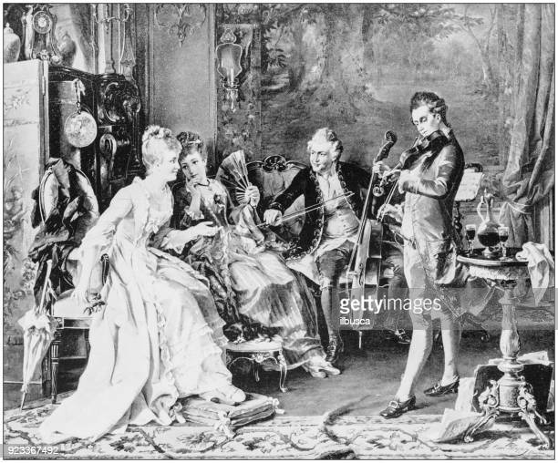 Antique photo of paintings: The interrupted Festival by Herpfer
