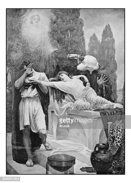 Antique photo of paintings: the sacrifice of Iphigenia