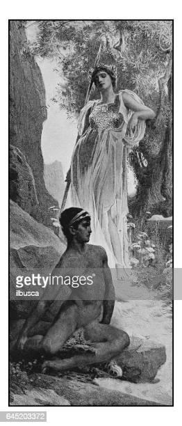 illustrations, cliparts, dessins animés et icônes de antique photo de peintures: ulysse - ulysse