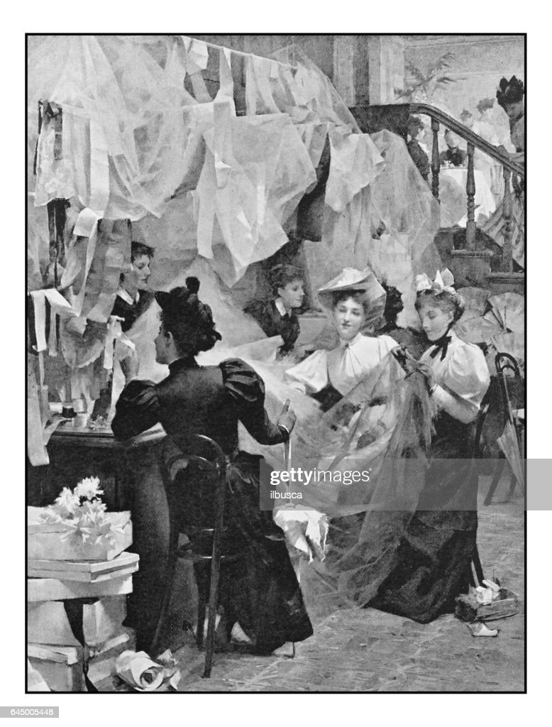 Antique Photo Of Paintings: Vanity Fair : Stock Illustration