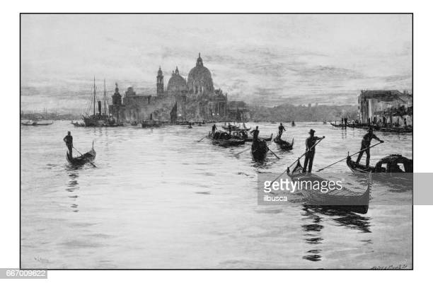 antique photo of paintings: venice - venice italy stock illustrations, clip art, cartoons, & icons