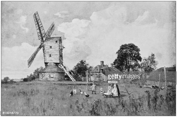 Antique photo of paintings: Windmill
