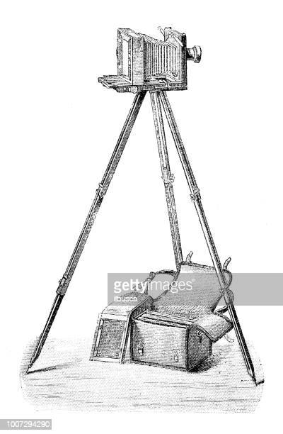 Antique scientific engraving illustration: Camera