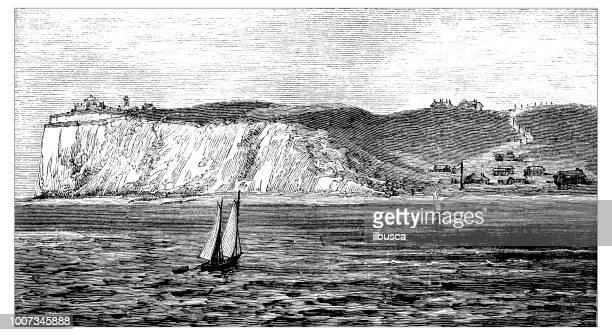 Antique scientific engraving illustration: Dover