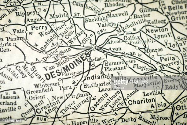 60 Top Des Moines Iowa Stock Illustrations, Clip art, Cartoons ... Detailed Map Of Iowa on