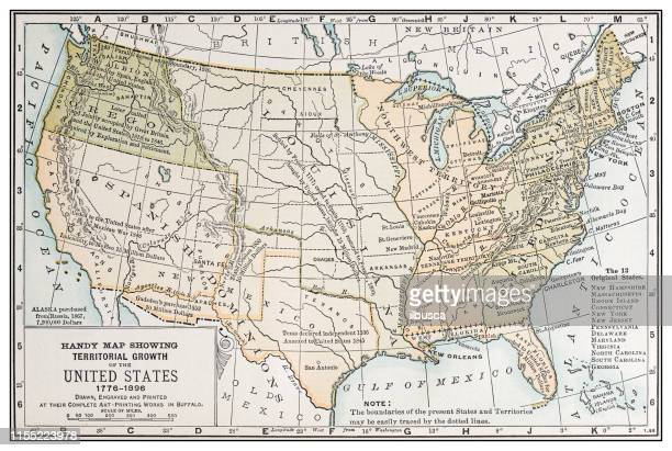 antique vintage retro usa map: the original 13 states - 1896 stock illustrations, clip art, cartoons, & icons