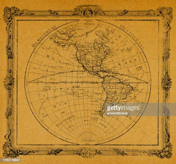 antique world map on old paper - latitude stock illustrations