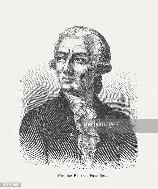 Antoine-Laurent de Lavoisier (1743-1794), French chemist, wood engraving, published 1877