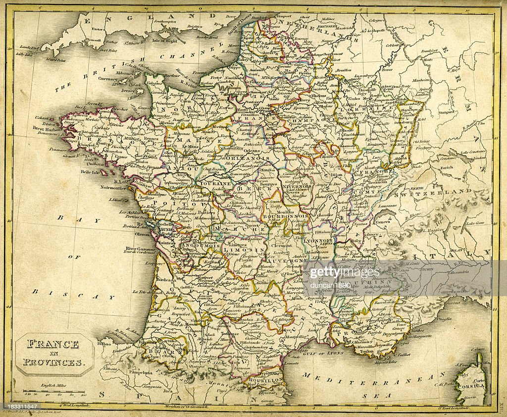 Antquie Map Of France In Provinces Stock Illustration Getty Images