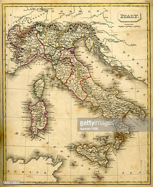 イタリアの antquie マップ - イタリア ピエモンテ州点のイラスト素材/クリップアート素材/マンガ素材/アイコン素材