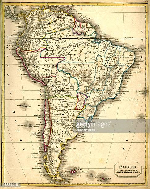 Antquie Map of South America
