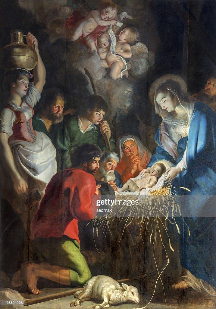 Antwerp - Nativity scene by baroque painter Cornelius de Vos