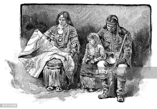 apache family - blanket stock illustrations, clip art, cartoons, & icons