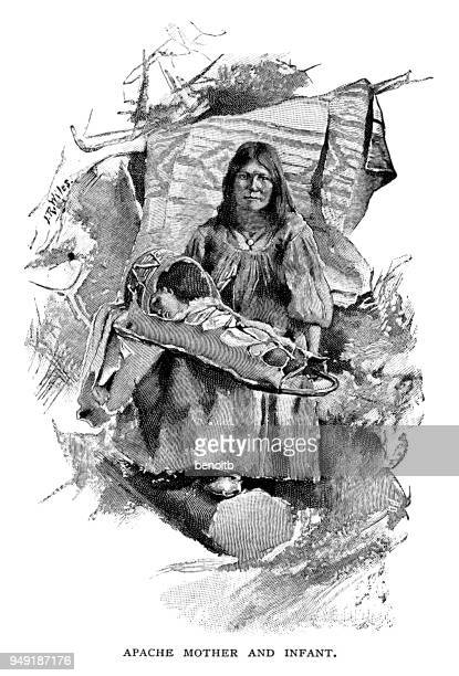 Apache mother and infant