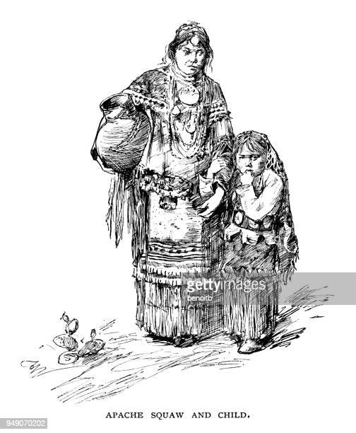 Apache squaw and child