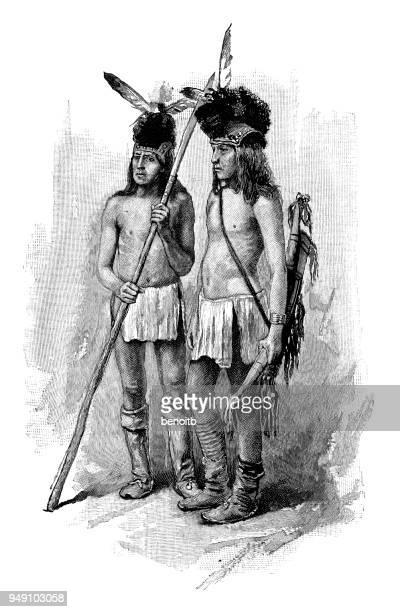 apache warriors - apache culture stock illustrations, clip art, cartoons, & icons