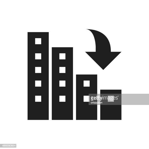 apartment building icon on a white background. - commercial real estate stock illustrations