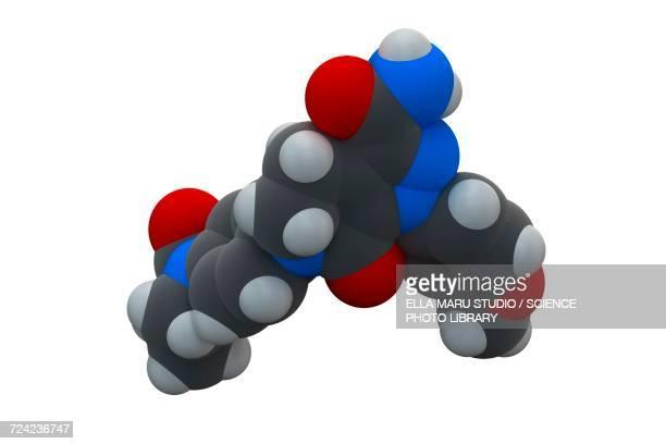 Apixaban anticoagulant drug molecule