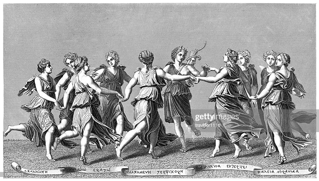 Apollo And The Muses : stock illustration