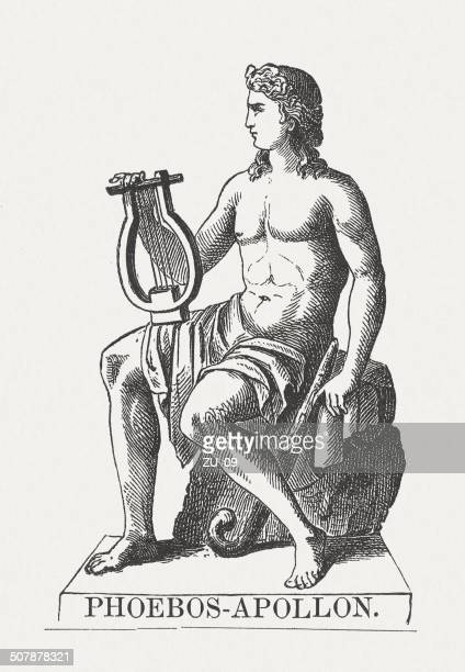 Apollo Greek God Wood Engraving Published In 1878