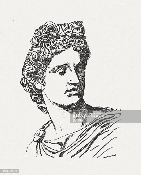 Apollo Greek Roman God Belvedere Vatican Wood Engraving Published