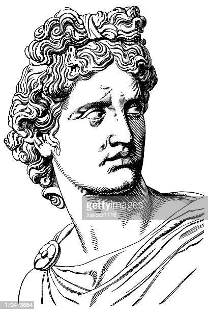 stockillustraties, clipart, cartoons en iconen met apollo - classical greek style