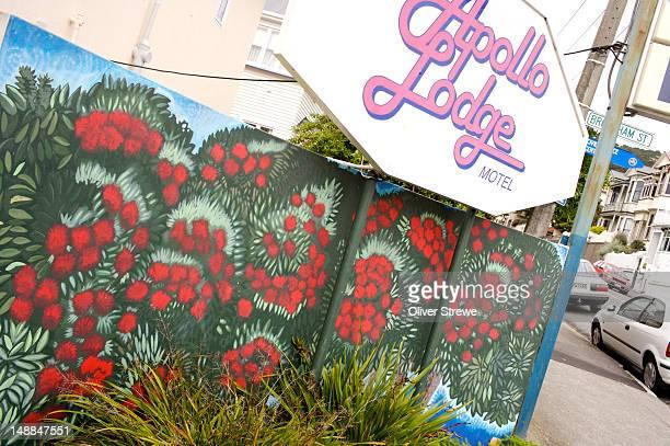 apollo lodge motel sign, 49 majoribanks st. - capital letter stock illustrations
