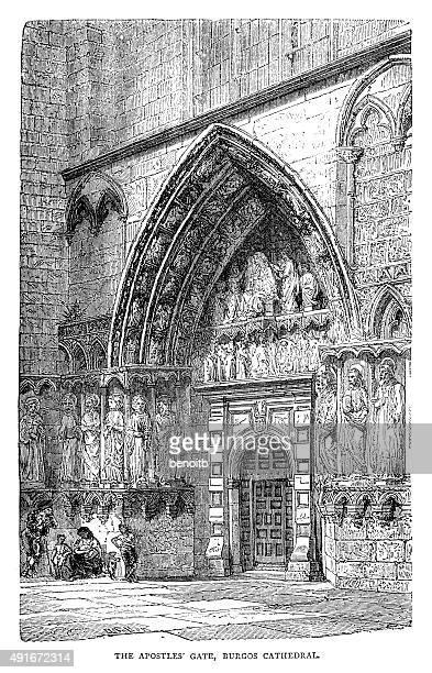 Apostles Gate At The Burgos Cathedral