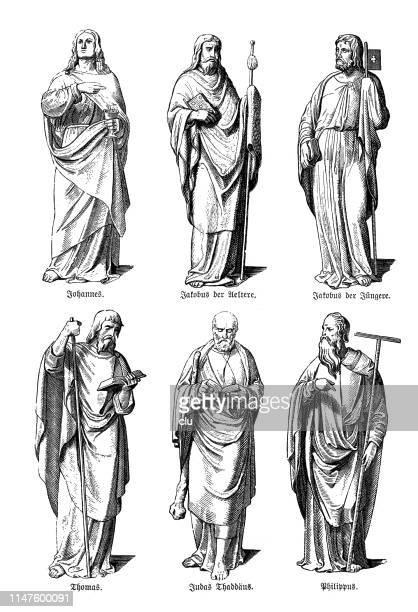 使徒像、ヨハネス、jakobus、トーマス、ユダ、フィリップス、フィリップス。 - 使徒点のイラスト素材/クリップアート素材/マンガ素材/アイコン素材
