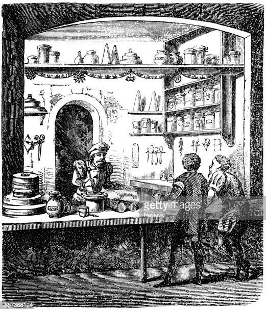 Apothecary shop in the sixteenth century