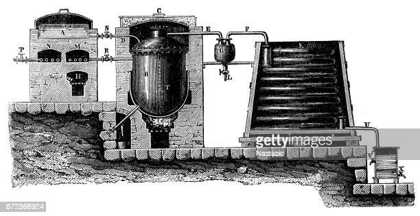 Apparatus for the distillation of fatty acids