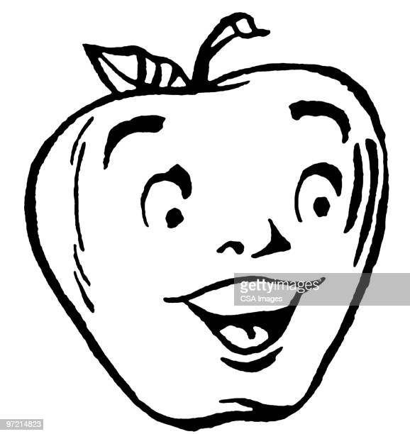 apple - anthropomorphic foods stock illustrations, clip art, cartoons, & icons