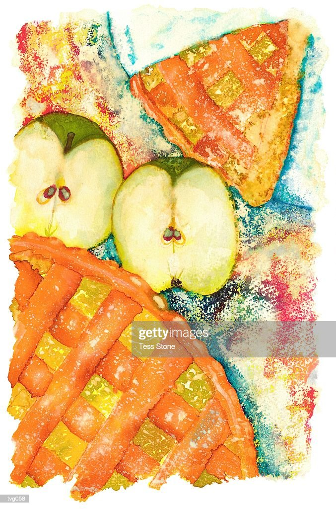 Apple Pie : Stockillustraties