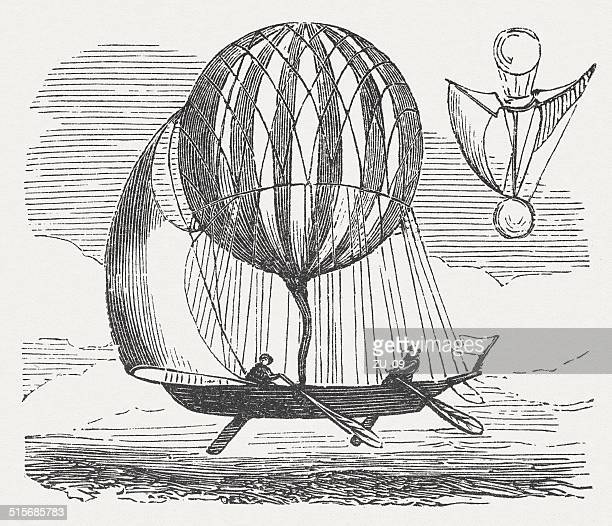 Application of sails and rudder to control a balloon