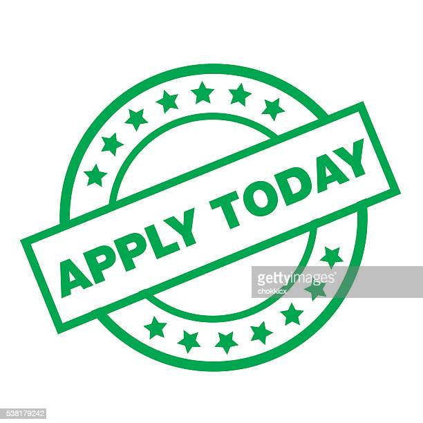 apply today - today single word stock illustrations