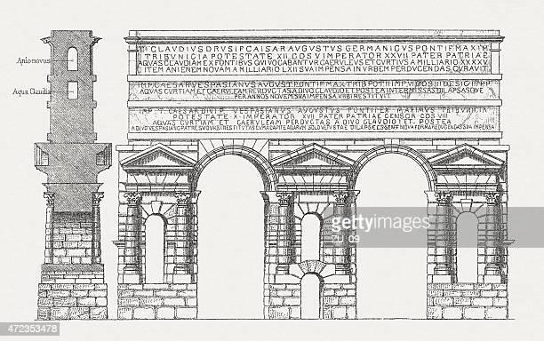 Aqua Claudia, antigua Roman acueducto, publ.   1.874