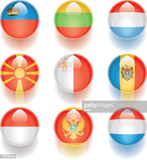 aqua flags – europe 05 - monte carlo stock illustrations, clip art, cartoons, & icons