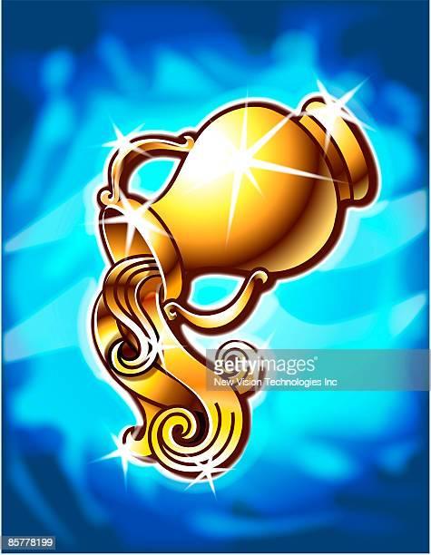 illustrations, cliparts, dessins animés et icônes de aquarius zodiac - signe du verseau