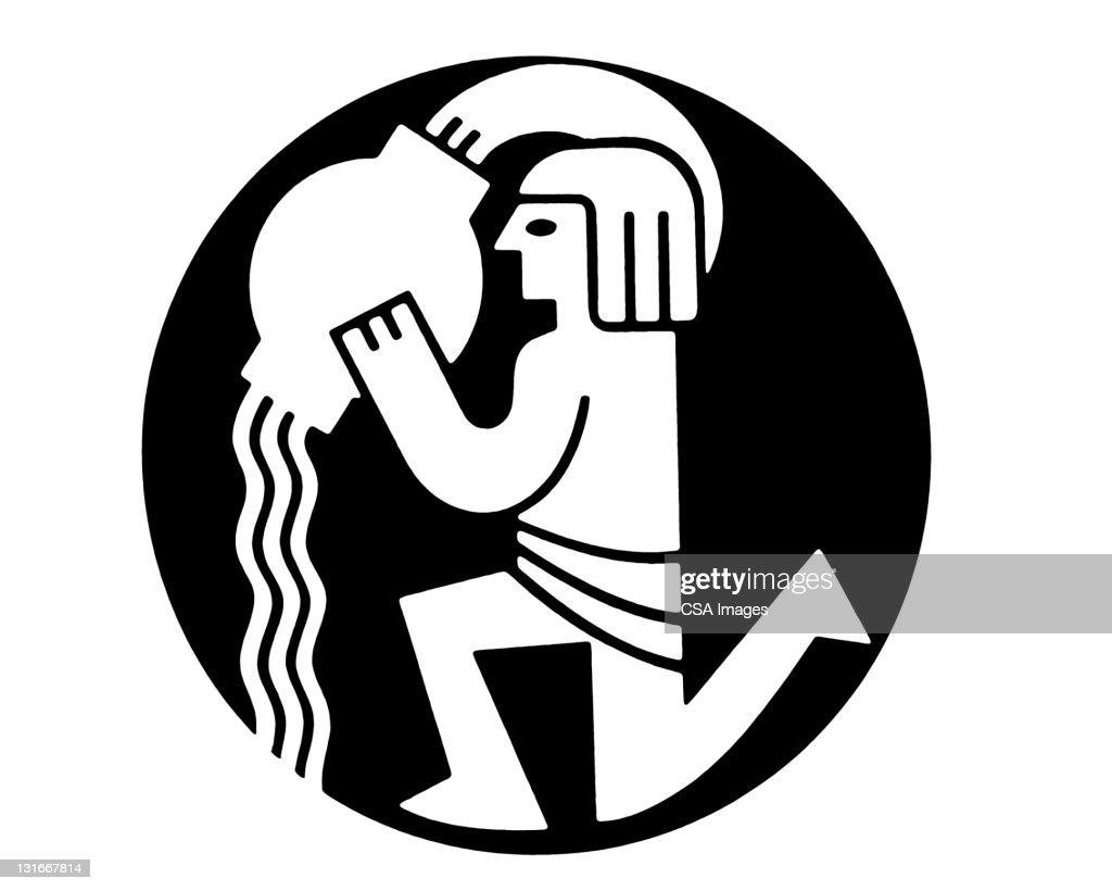 Aquarius Zodiac Symbol Stock Illustration Getty Images