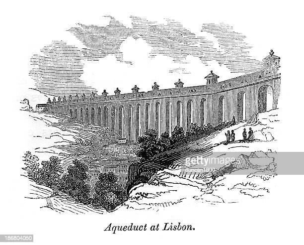 Acueducto en Lisboa, Portugal