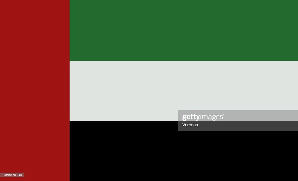 arab emirates flag stock illustration getty images