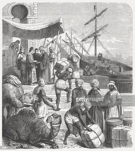 Arab traders in the past, published in 1881