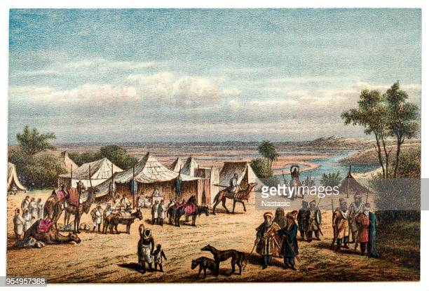 Arabic camp on the river bank