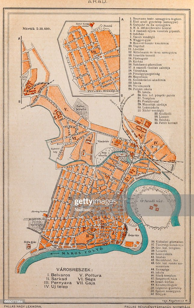 Arad City Map Stock Illustration Getty Images